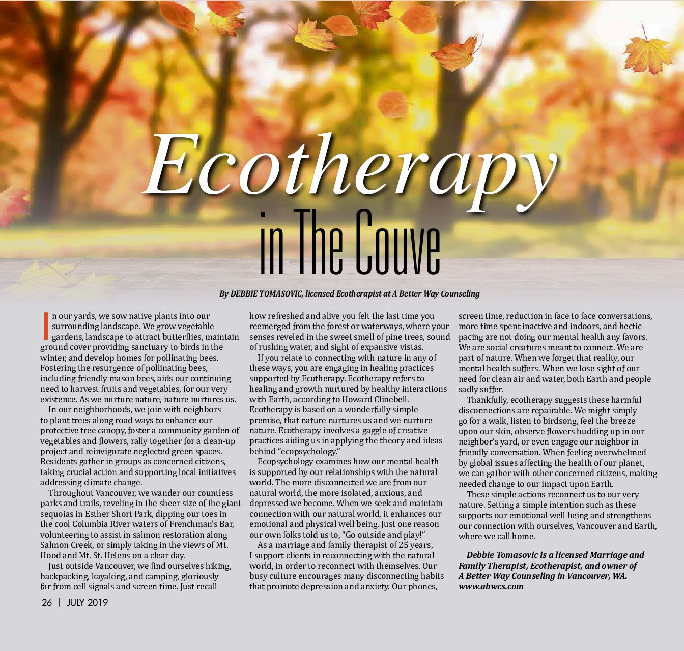 Ecotherapy in The Couve