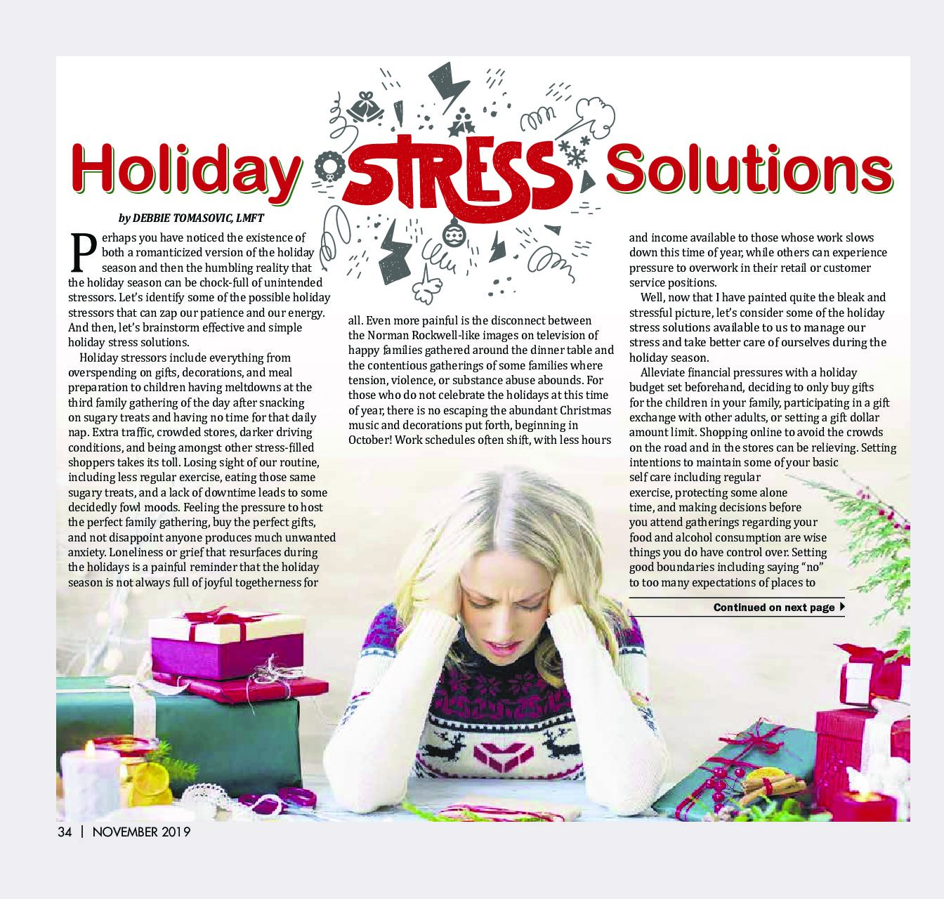 Holiday Stress Solutions